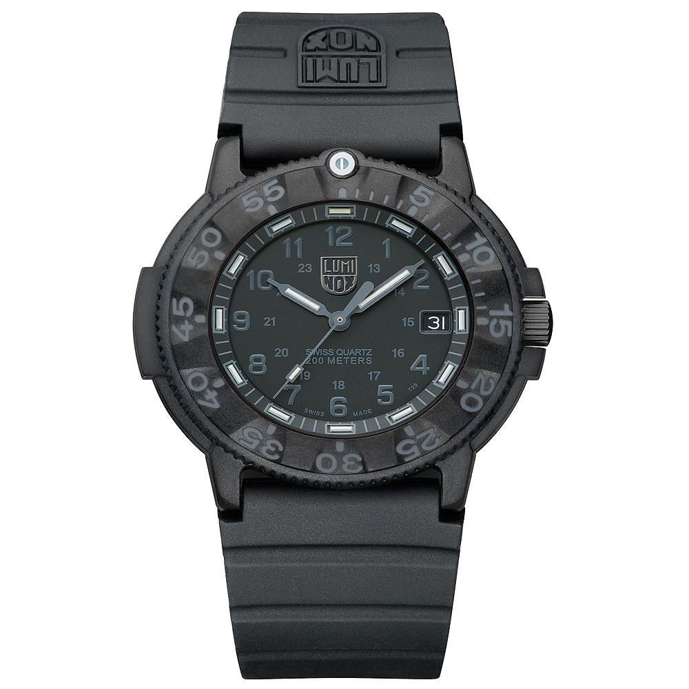 Luminox 海豹部隊經典系列經典腕錶-黑x黑時標/43mm