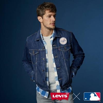 牛仔外套 男裝 LEVI'S X MLB洛杉磯道奇 立體刺繡