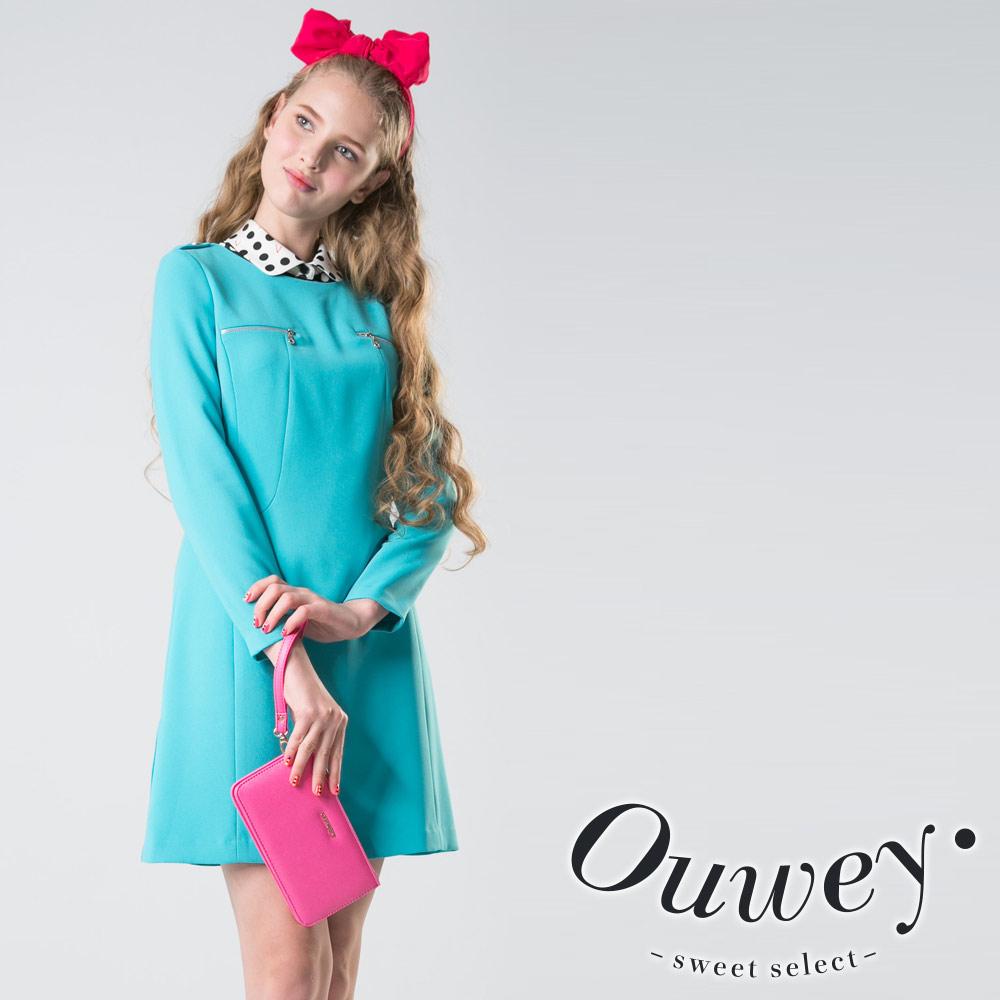 OUWEY 純色主意極簡線條洋裝