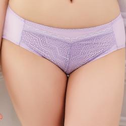 思薇爾 挺享塑系列蕾絲中腰三角褲(花香紫)