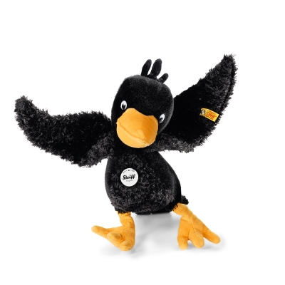 STEIFF德國金耳釦泰迪熊 - Abraxas Raven 烏鴉 (動物王國)