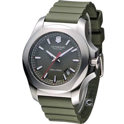 Victorinox 維氏 INOX 130周年軍事標準腕錶-綠/43mm