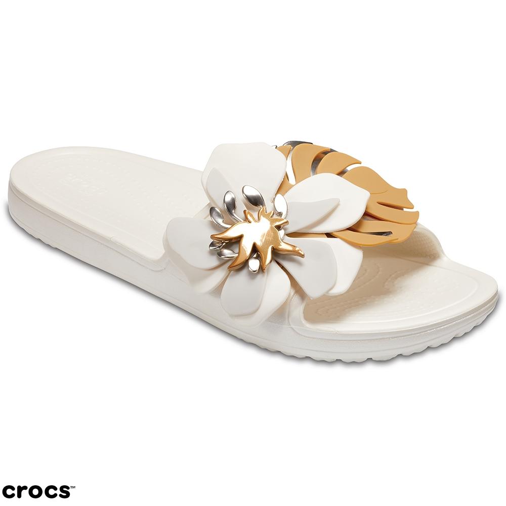 Crocs 卡駱馳 (女鞋) 思瓏花朵涼拖 205257-159