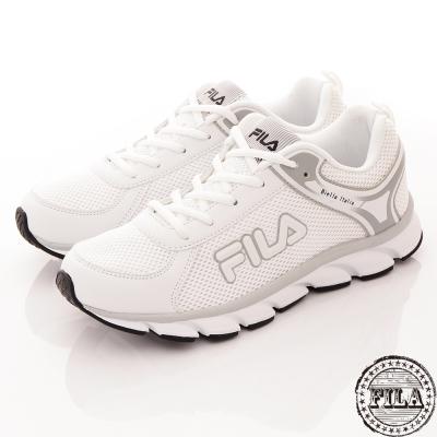 FILA 男款 白皙輕量透氣慢跑鞋~白1-J972Q-141