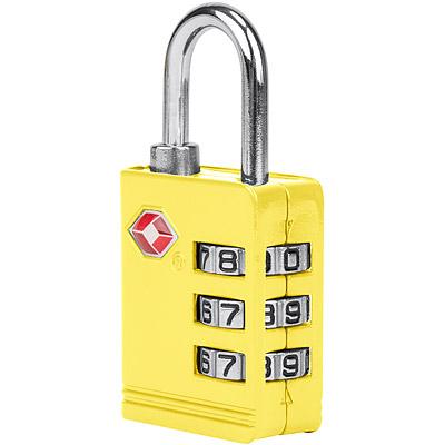 TRAVELON TSA三碼防盜密碼鎖(黃)