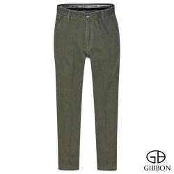 GIBBON 簡約水洗舒適平口休閒褲‧卡其綠31~42