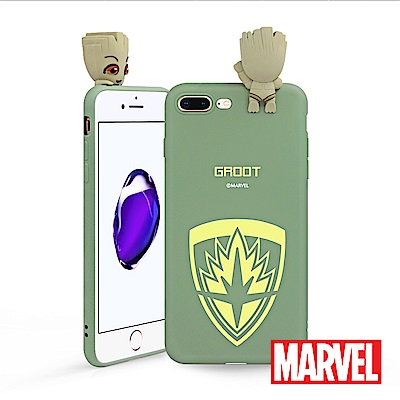 MARVEL iPhone 7/8 Plus復仇者聯盟星際異攻隊公仔矽膠手機殼 ...