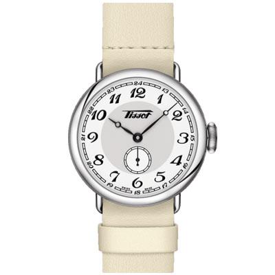 TISSOT 天梭 Heritage 1936復古風小秒針腕錶-米白/35mm