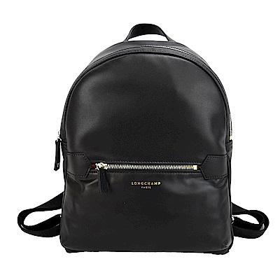 Longchamp 2.0 系列小牛皮後背包(小/黑)