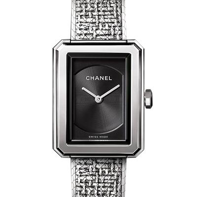 CHANEL 香奈兒 BOY·FRIEND TWEED腕錶-小型款27.9 x 21.5M