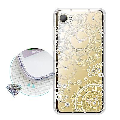 浪漫彩繪 HTC Desire 12 水鑽空壓氣墊手機殼(齒輪之星)