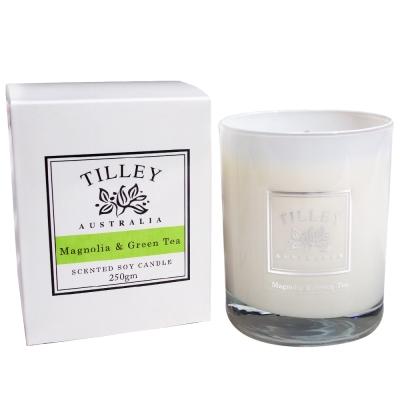 Tilley百年特莉 木蘭花&綠茶香氛大豆蠟燭240g