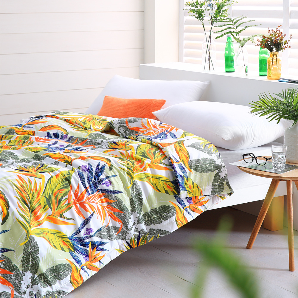 Cozy inn 天堂-綠-300織精梳棉-涼被(6X7尺)
