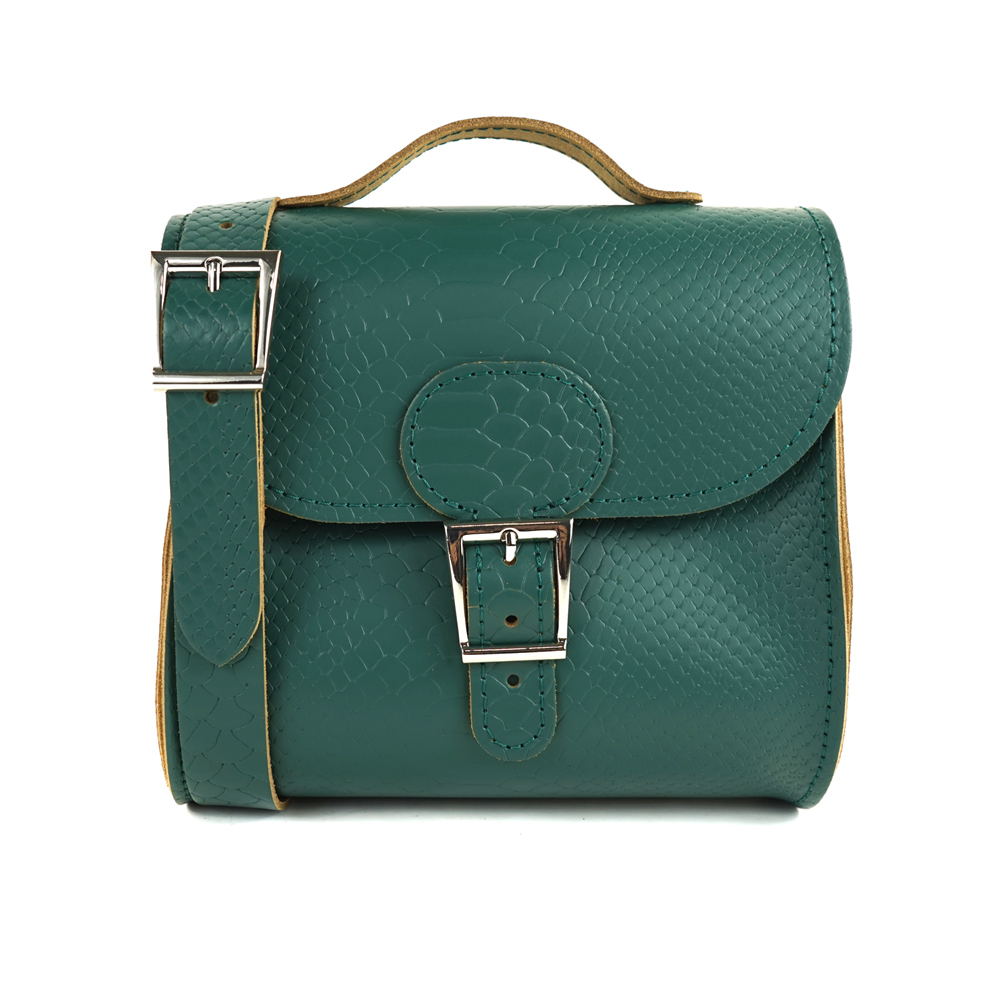 Brit-Stitch 手工牛皮肩背手提典藏包-森林綠