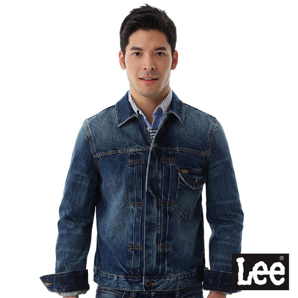Lee 牛仔刷色外套/101+-男款-淺藍色