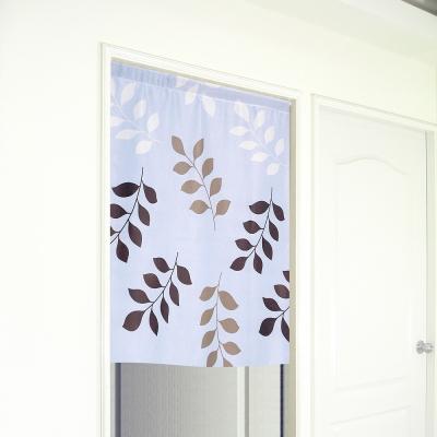 布安於室-三色葉遮光門簾-寬100x高130cm