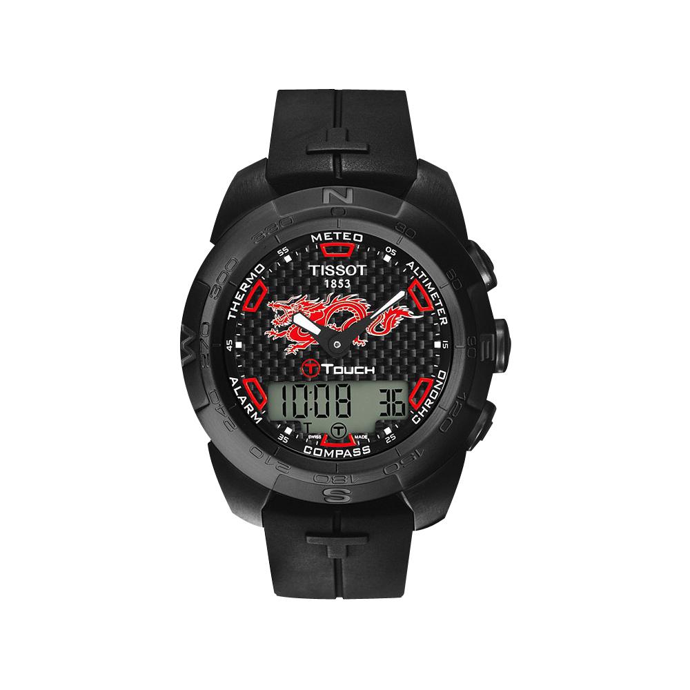 TISSOT T-touch 龍年紀念碳纖維【鈦】限定腕錶-43mm