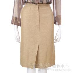 Lorella Braglia 駝金色不對稱設計及膝裙