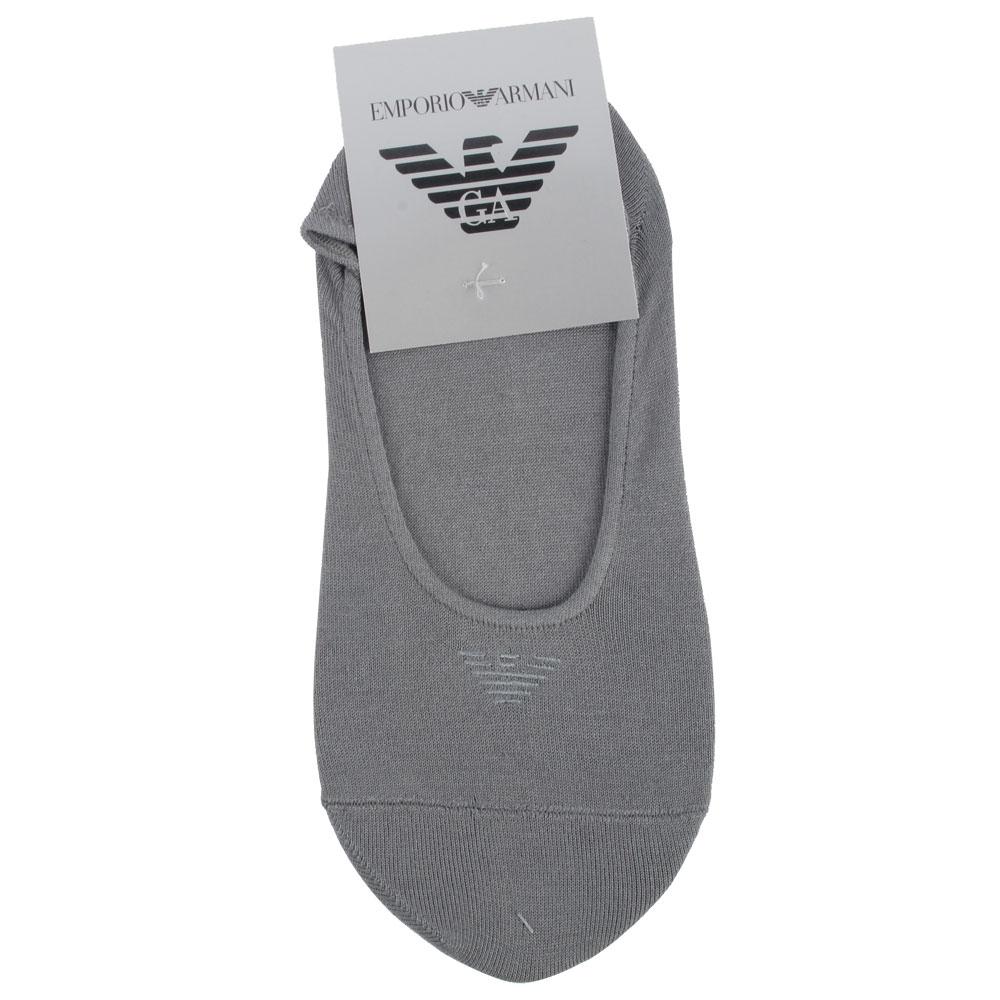 Emporio Armani 老鷹標誌刺繡隱形短襪-灰
