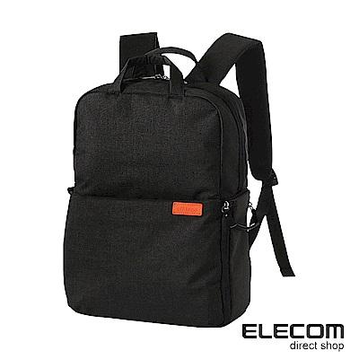 ELECOM 帆布多功能後背包S035(L)-黑