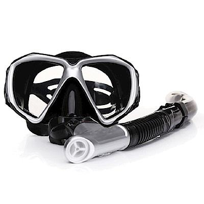 韓國熱銷 強化抗霧玻璃潛水精品組/潛水鏡/呼吸管/浮潛/衝浪 五色任選