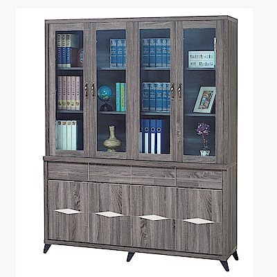 H&D 工業風5.3尺書櫥組 (寬160X深41X高206cm)