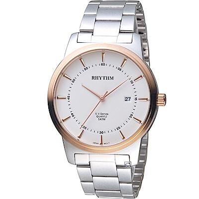 日本麗聲錶RHYTHM沈穩內斂品味紳士錶(GS1601S03)-40mm