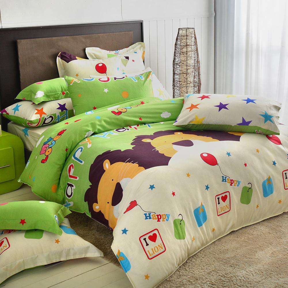 義大利Fancy Belle 黑皮萊恩 加大純棉床包枕套組