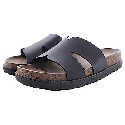 POLO休閒拖鞋 黑 sk0355 魔法Baby