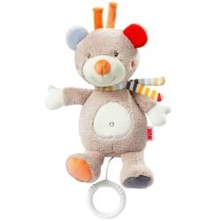 德國NUK絨毛玩具-小熊音樂拉鈴玩偶