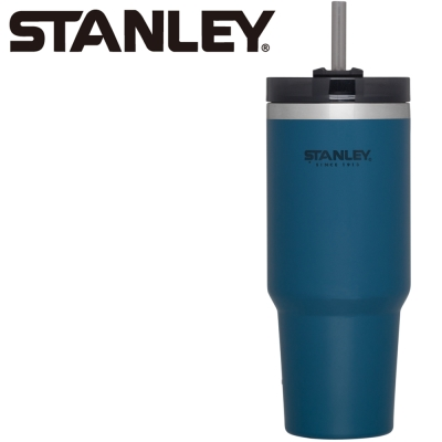 【美國Stanley】冒險系列手搖飲料吸管杯0.88L-海軍藍