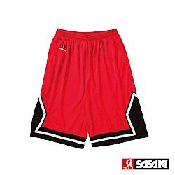 SASAKI 長效性吸排籃球短褲-男-紅/黑