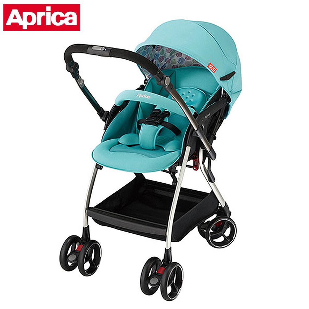 【Aprica】 四輪自動定位導向型嬰幼兒手推車 Optia新視野 哈潑綠
