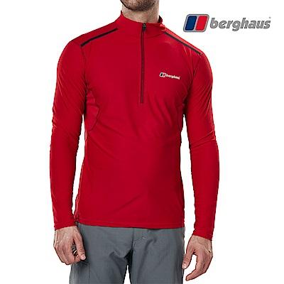 【Berghaus貝豪斯】男款銀離子除臭抗菌抗UVT恤S15M18-紅