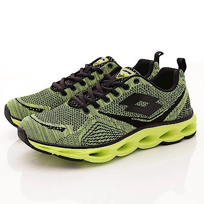 Lotto樂得-編織輕量彈力跑鞋-RSI285綠(男段)