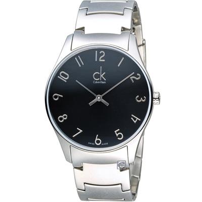 CK Calvin Klein Classic經典時尚腕錶(K4D2114X)黑/38mm
