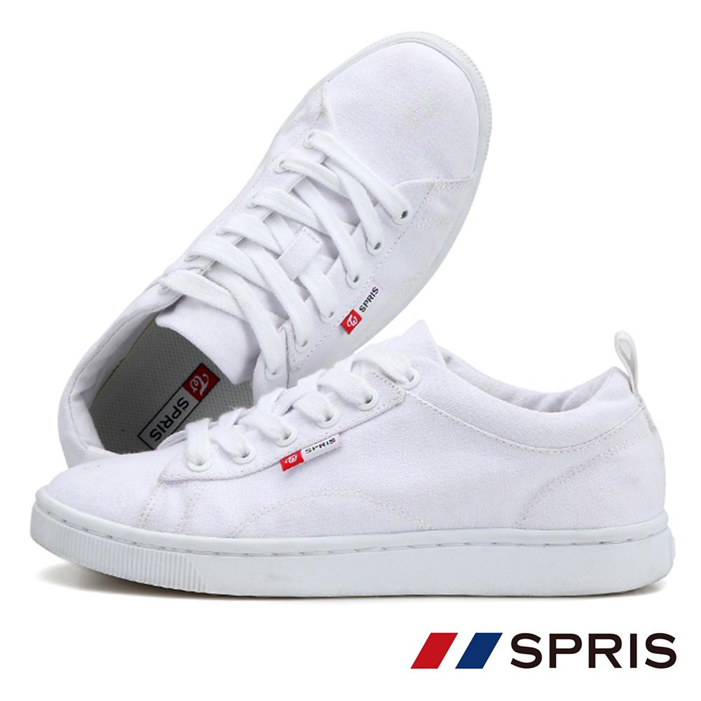 周子瑜TWICEx韓國SPRIS 聯名鞋款 TEENS 綁帶帆布鞋系列-白 @ Y!購物