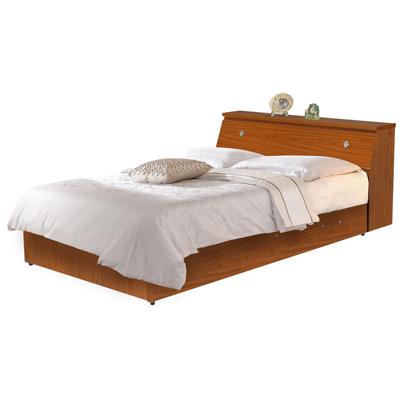 時尚屋 溫莎3.5尺床箱型加大單人後掀床(床頭箱+掀床底)
