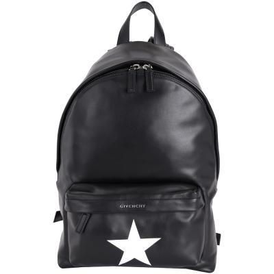 GIVENCHY Star 星星圖案皮革後背包(黑色)