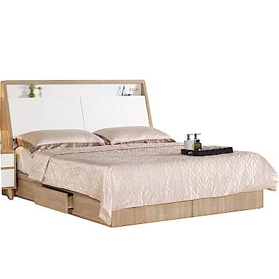 品家居 珍比妮5尺雙人收納床台組合(不含床墊)-157x211.4x104cm免組
