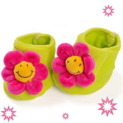 澳洲baby bow-紅花花鞋襪(0-6個月)
