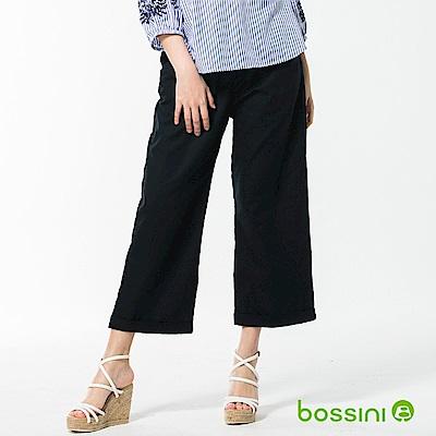 bossini女裝-休閒棉麻長褲02海軍藍