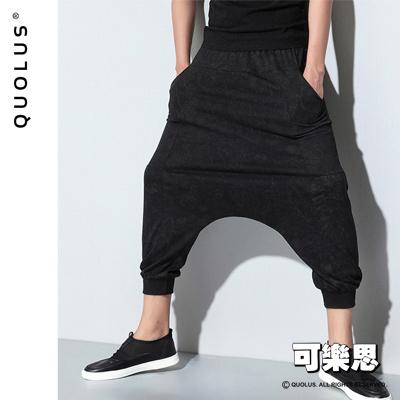 可樂思-潮流-時尚-雪花-圖樣-九分-哈倫褲