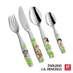 德國雙人 叢林系列 兒童餐具四件組