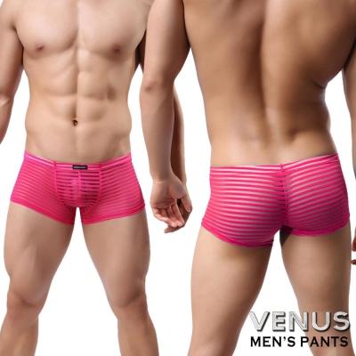 VENUS 男士性感情趣 條紋性男士 四腳平口褲