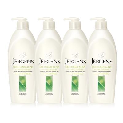 JERGENS珍柔 美體護膚保濕乳液650ml-蘆薈x4