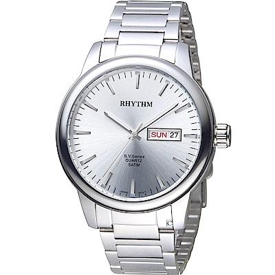 日本麗聲錶RHYTHM沈穩內斂品味紳士錶(GS1605S01)-42mm