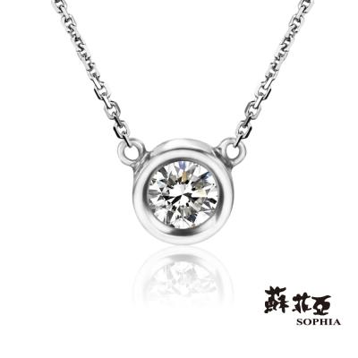 蘇菲亞SOPHIA - 唯一0.20克拉八心八箭鑽石套鍊