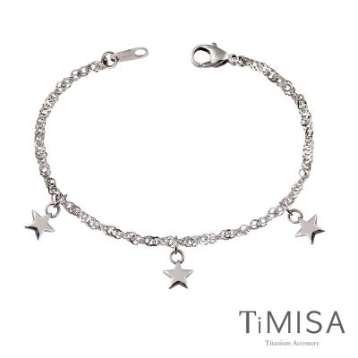 TiMISA《幸福三顆星》純鈦手鍊