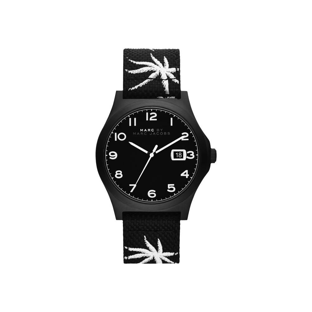 Marc by Marc Jacobs Jimmy 熱帶棕櫚時尚腕錶-黑/42mm